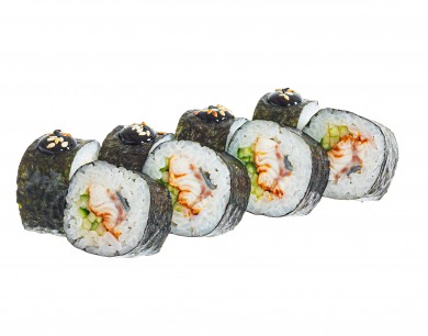 Sea eel and cucumber roll
