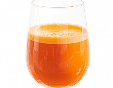 Fresh carrot juices