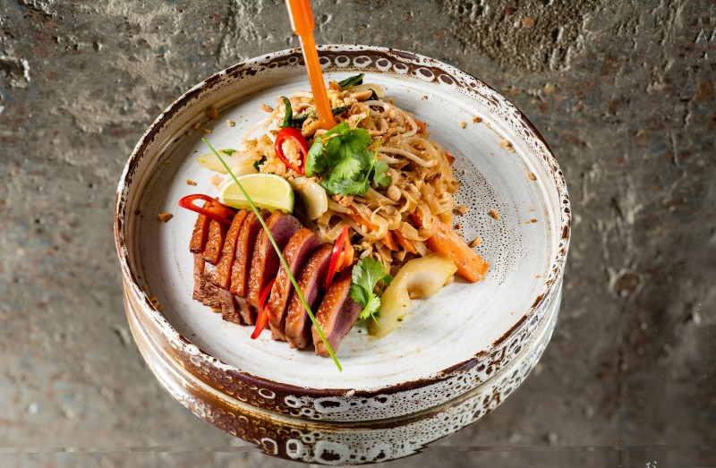 Duck breast noodles