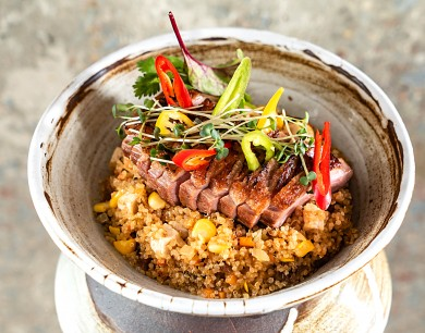 Quinoa Wok with duck