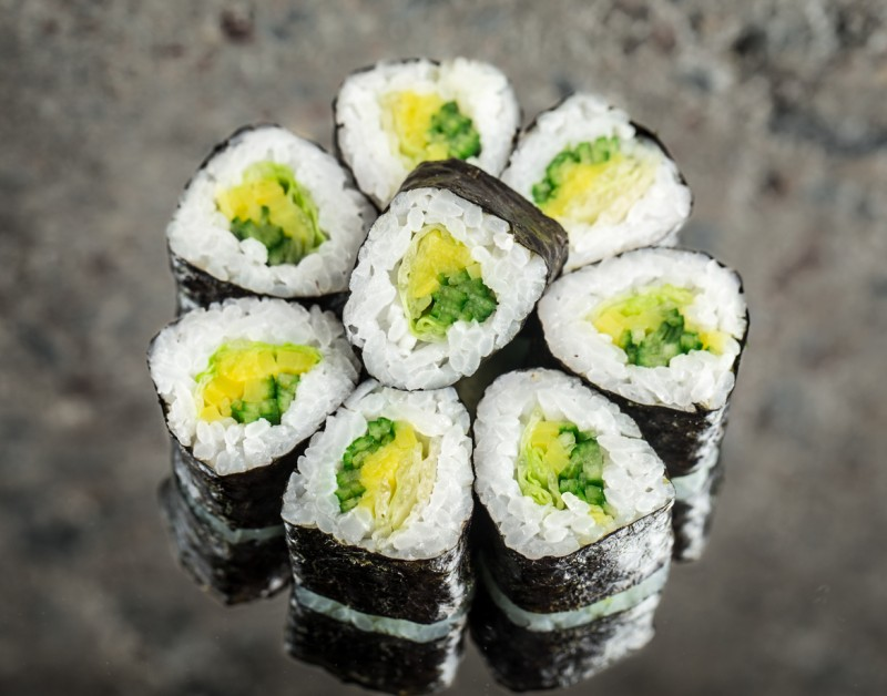 Mini roll with vegetables