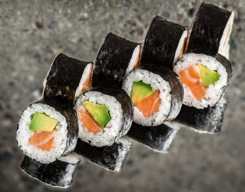 Salmon and avocado roll